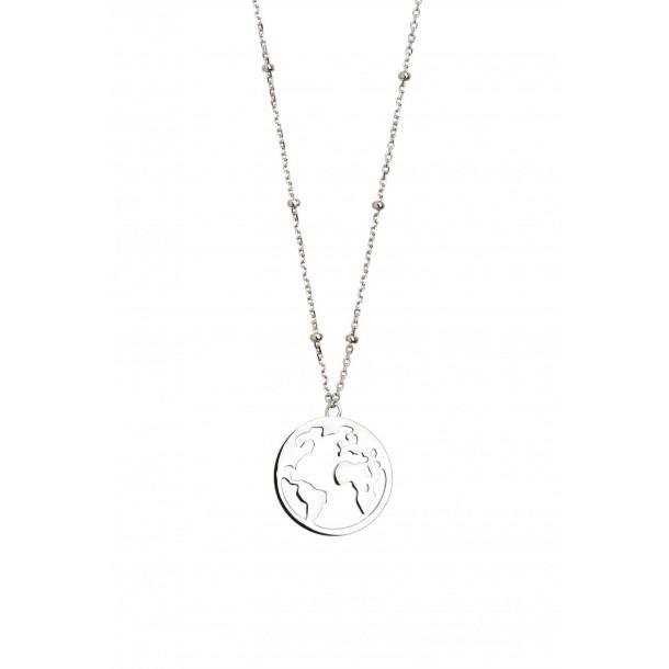 Collier Silber 925 Mit Weltkugel Xs2984 Juwelier Waschier