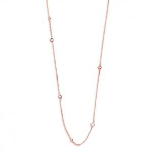 Xenox Collier Silber SI 925, ROSÉ VERG. ZIRK. 40-45CM, XS3829R