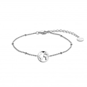 Armband Silber 925, Weltkugel, XS2986