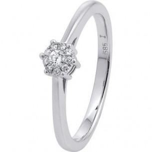 Damen-Ring Weißgold Diamant 0,08 ct H/Si, SOR16-54