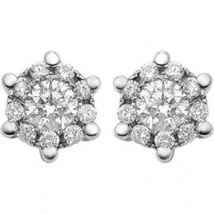 Damen-Ohrstecker Weißgold Diamant 0,18 ct H/Si, SOO01