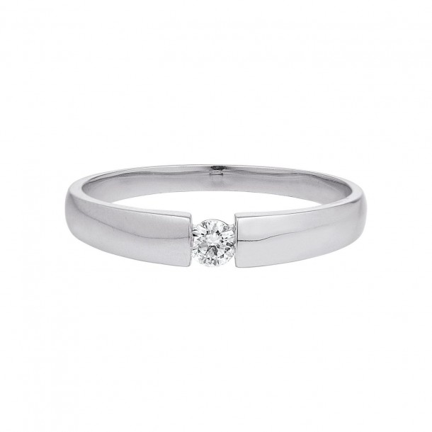 Damen-Ring Weißgold Diamant 0,10 ct H/Si, SOR15-52