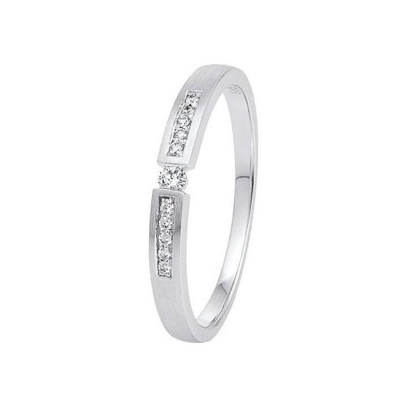 Damen-Ring Weißgold Diamant 0,07 ct H/Si, SOR10-52