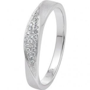 Damen-Ring Weißgold Diamant 0,07 ct H/Si, SOR07-52