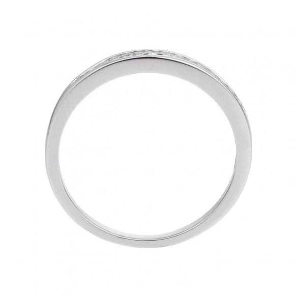 Damen-Ring Weißgold Diamant 0,12 ct H/Si, SOR06-52