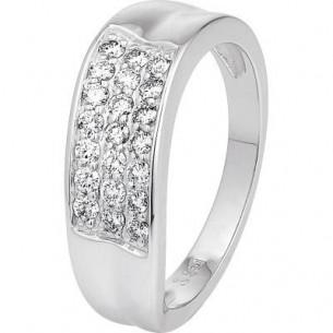 Damen-Ring Weißgold Diamant 0,38 ct H/Si, SOR05-54