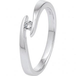 Damen-Ring Weißgold Diamant 0,05 ct H/Si, SOR04-52