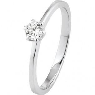 Damen-Ring Weißgold Diamant 0,20 ct H/Si, SOR21-52