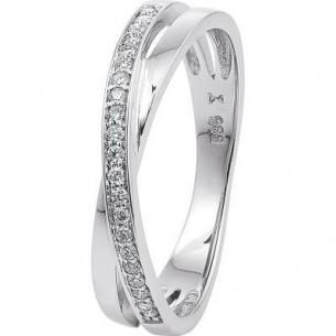 Damen-Ring Weißgold Diamant 0,10 ct H/Si, SOR01-54