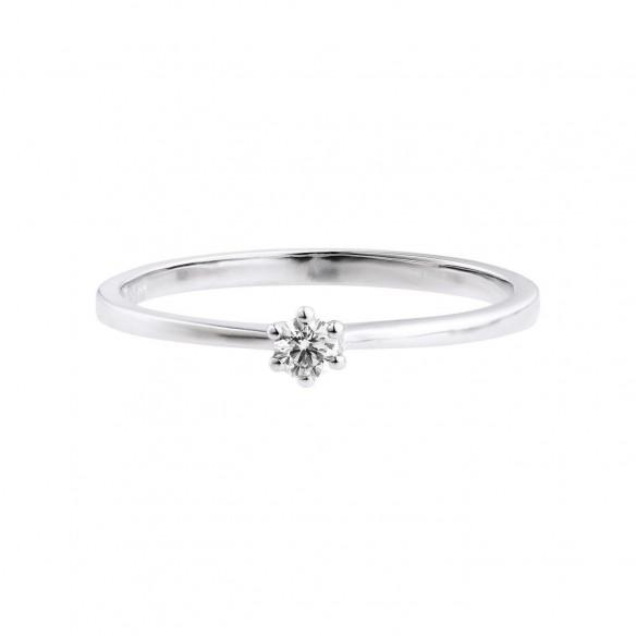 Damen-Ring Weißgold Diamant 0,10 ct H/Si, SOR19-52