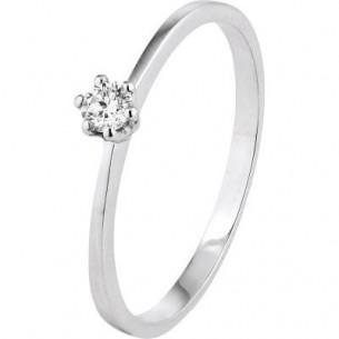 Damen-Ring Weißgold Diamant 0,07 ct H/Si, SOR18-52