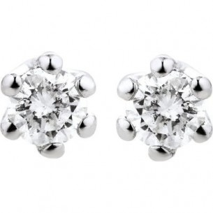 Damen-Ohrstecker Weißgold Diamant 0,10 ct H/Si, SOO05