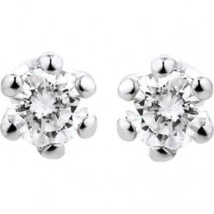 Damen-Ohrstecker Weißgold Diamant 0,15 ct H/Si, SOO06