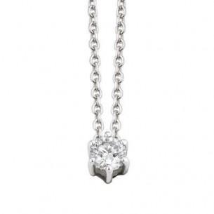 Damen-Collier Weißgold Diamant 0,10 ct H/Si, SOC02-4245