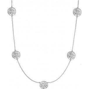 Damenkette Lebensbäume 925, Silber mit 5 Bäumen, ALB1009