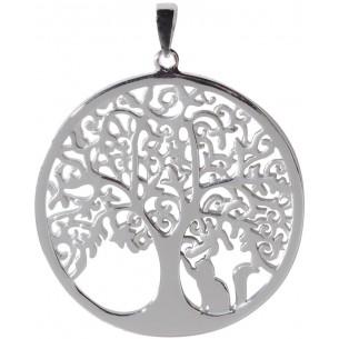 Anhänger Lebensbaum mit Katze 925, Silber, ALB1007