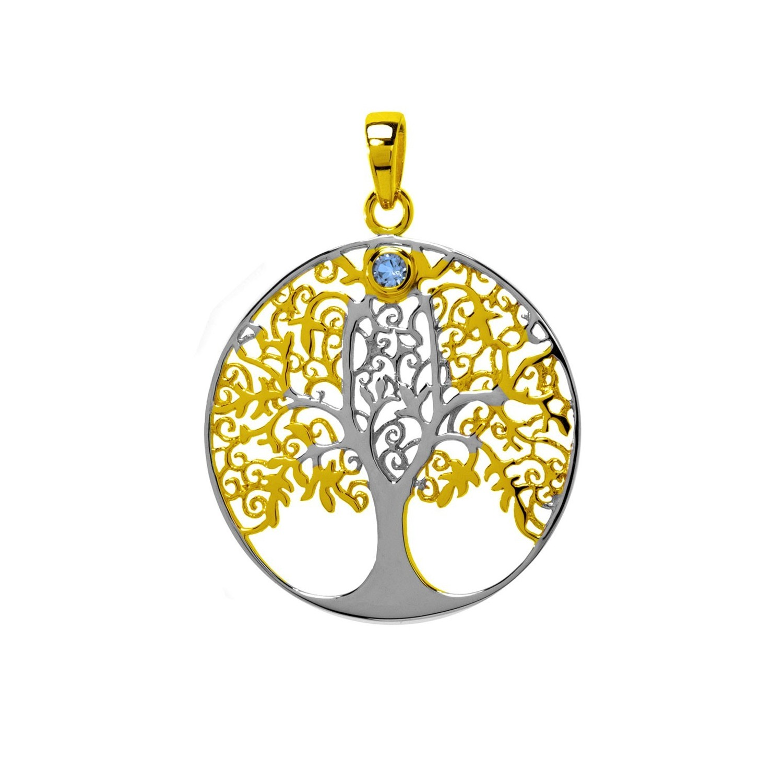 Lebensbaum Anhanger Mit Blautopas Alb12004 Juwelier Waschier