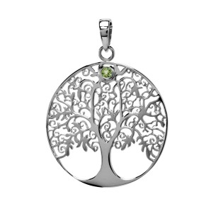 Anhänger Lebensbaum mit Peridot, ALB1002
