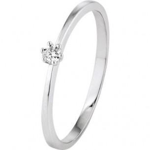 Damen-Ring Weißgold 1x Diamant 0,05 ct H/Si, SOR17-52