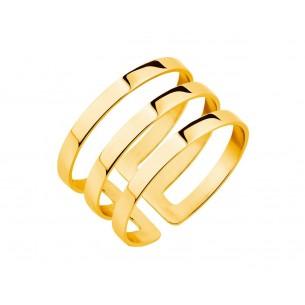 Ring Edelstahl vergoldet, EL125-6551-56