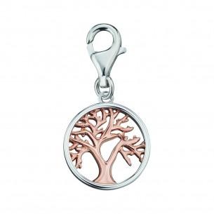 Anhänger Charms Lebensbaum 925, Silber rose vergoldet, ERC-LILTREE-BICOR