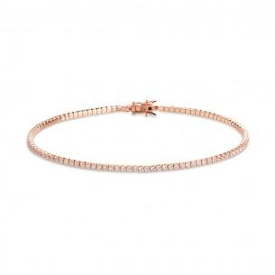 Xenox Tennisarmband in rosé mit Zirkonia - 15,5 cm, XS1725R/S
