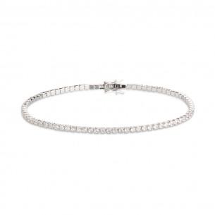 Xenox Tennisarmband in Silber mit Zirkonia - Länge: 17cm, XS1726/M