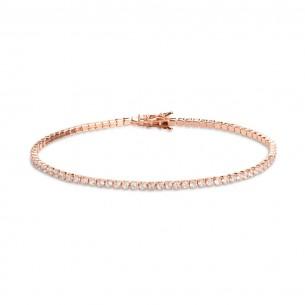 Xenox Tennisarmband in rosé mit Zirkonia - Länge: 17cm, XS1726R/M