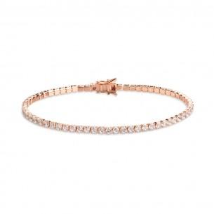 Xenox Tennisarmband in rosé mit Zirkonia - Länge: 19cm, XS1727R/L