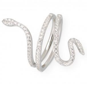 Xenox Silber Ring mit Zirkonia, XS4205/54