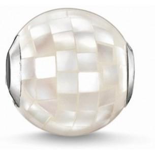 Karma Beads - Weißes Perlmutt, K0129-029-14
