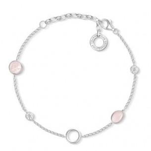 Thomas Sabo - Charm Armband mit rosa Steinen, X0272-035-7-L19V