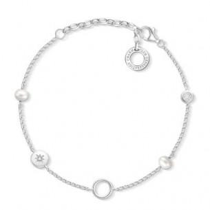 Thomas Sabo - Charm Armband mit Perlen, X0273-167-14-L19V