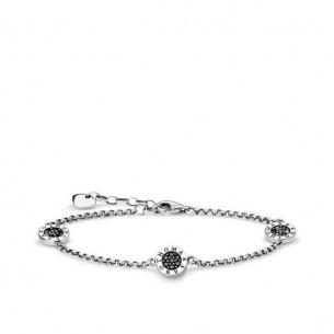 Armband Silber 925, Schwrzes Classic Pave, A1829-643-11-L19V