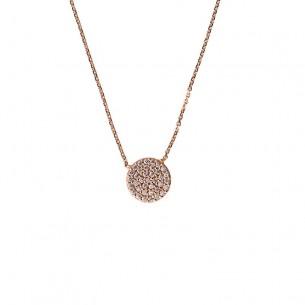 Collier Rose gold 585, Zirkonia, R15-41-099-042