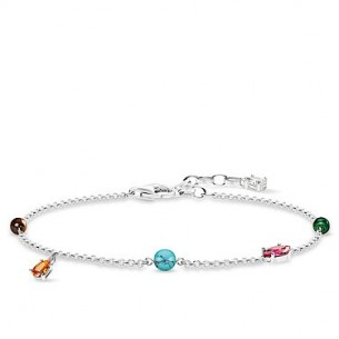 Thomas Sabo Armband mit mehrfärbigen Steinen, SCA150266