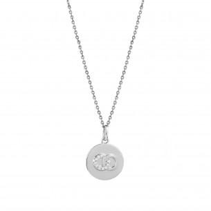Xenox Collier in 925 Silber Symbol Infinity - XS3436RK - Personalisierbar mit Gravur