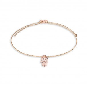 Armband Mädchen - Friedenshand rose, XS1676R