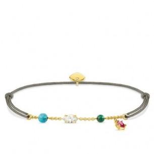 "Thomas Sabo Armband - ""Little Secret farbige Steine"" vergoldet, LS080-995-7-L20V"