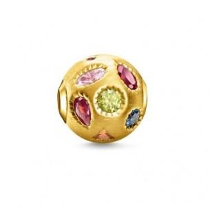 "Thomas Sabo Karma Bead- farbige Steine"" vergoldet, K0319-996-7"