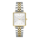 Rosefield Rosefield Uhren Damenuhr Stahl Quarz 33mm Weiß Indexe, Keile Messing Rechteckig 80875, 8720039330528