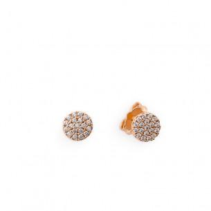 Palido Ohrstecker Rose gold 585/ - Zirkonia 80889, 714526