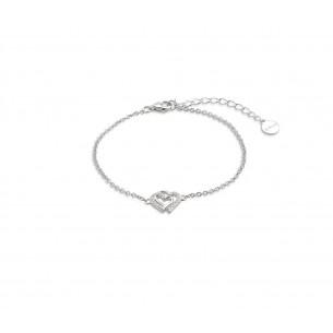 Xenox Xenox Armband in Silber - Doppelherz 80897, 9010050049776