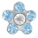 Studex Ohrsteccker - Blume hellblau - Mini-Erstlingsohrstecker Gold 80938, 048675756167
