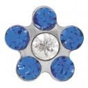 Studex Ohrstecker - Blümchen Weissgold blau - Erstlingsstecker 65398, 048675756204