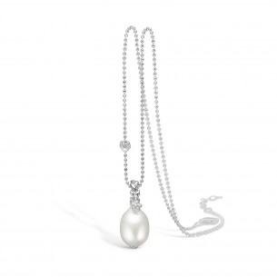 Blossom Collier Silber 925/- mit Anhänger Suesswasserperle 79774, 2133122880