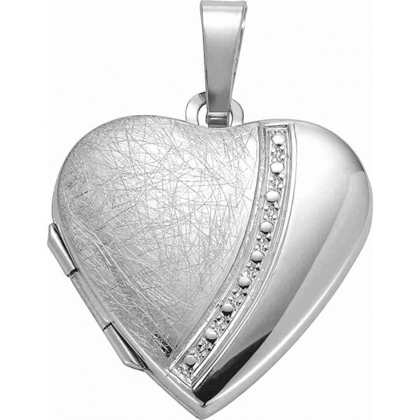 DIADORO Silber Basics SI 925 Medaillon Herz teilmatt 66271, 9120049259649