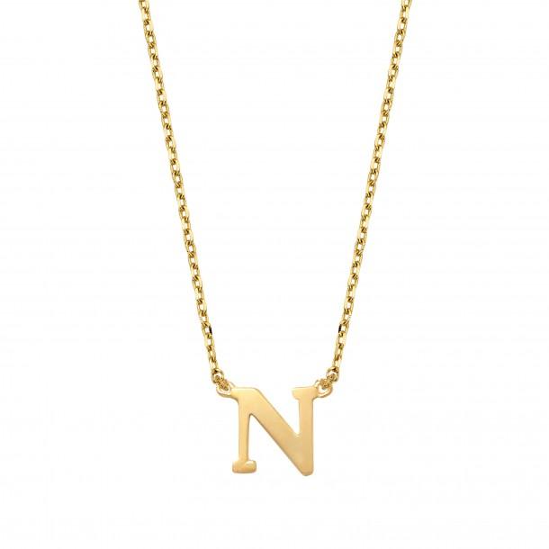 Schneider Goldketterl mit Buchstaben 585/- Gold 81246, 8720143053726