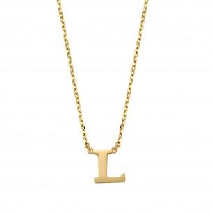 Schneider Goldketterl mit Buchstaben 585/- Gold 81244, 8720143053702