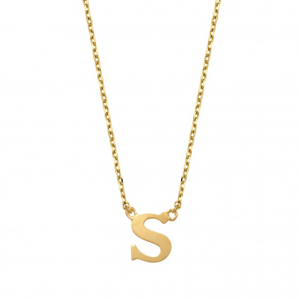 Schneider Goldketterl mit Buchstaben 585/- Gold 81247, 8720143053771